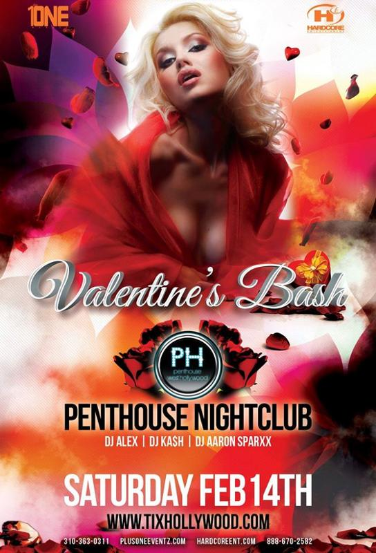 Valentine 39 S Day Bash At Penthouse Nightclub Los Angeles