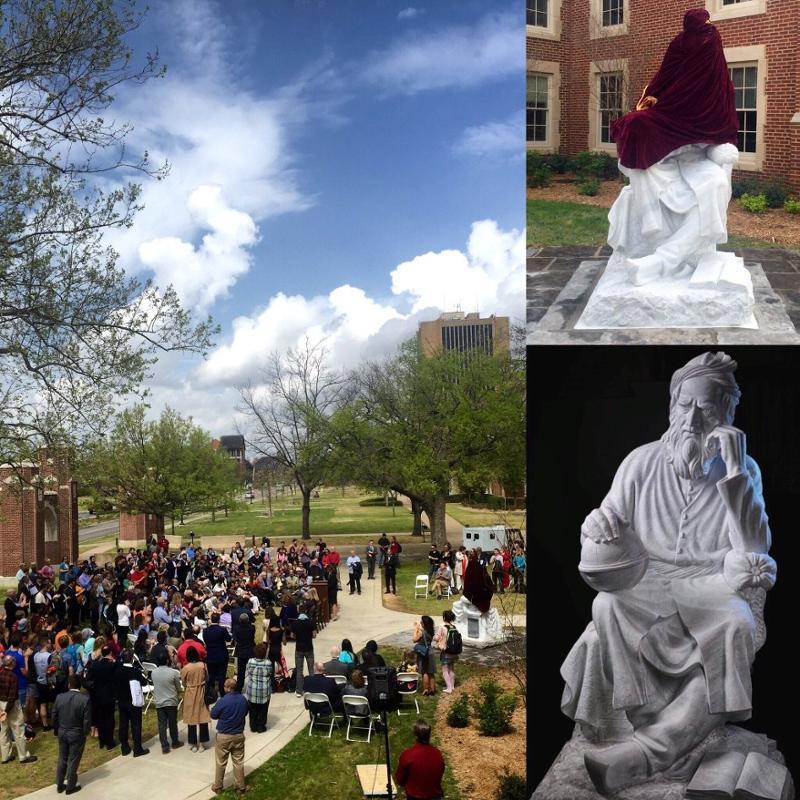 Iranian studies omar khayyam statue unveiled at oklahoma Jalal farzaneh oklahoma