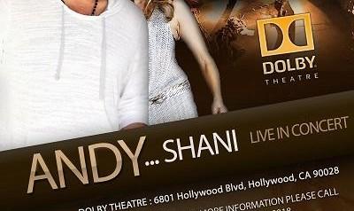 کنسرت بزرگ اندی و تولد شینی در لس آنجلس