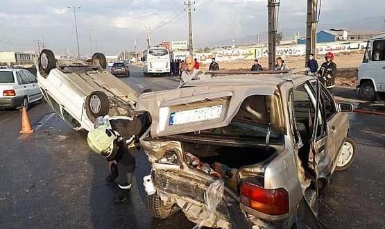 باز هم تصادفهای زنجیرهای در بزرگراه حقانی و جاده خاوران +عکس