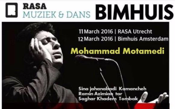 Mohammad Motamedi Concert in Bimhuis
