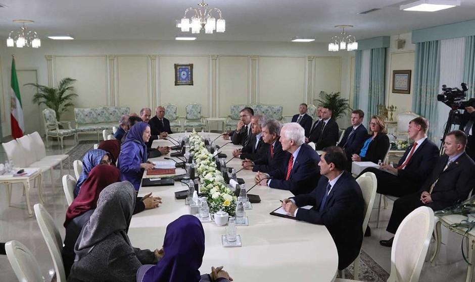 دیدار ۳ سناتور جمهوریخواه با مریم رجوی برای سرنگونی حکومت ایران