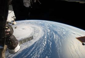 عکس خارق العاده توفان روی زمین از ایستگاه فضایی ناسا