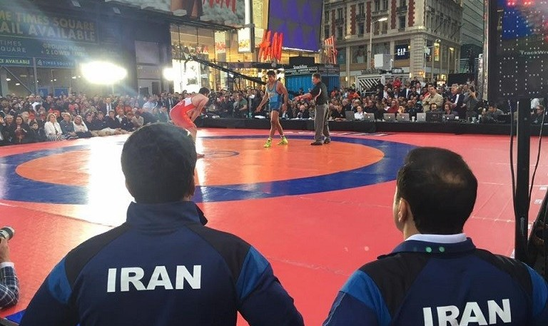 Iranian Wrestlers in Time Square and Los Angeles, Wrestling ...