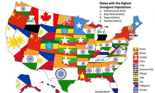 جمعیت مهاجران آمریکا رکورد شکست: سهم ایرانیها و ...