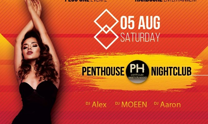 Saturday, August 5th at PENTHOUSE NIGHTCLUB (West Hollywood)