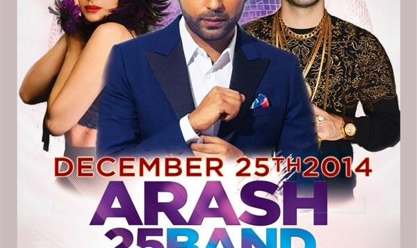 Arash, 25 Band in Christmas Iranian Concerts