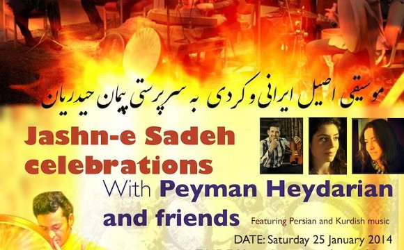 Jashn-e sadeh celebrations: Persian & Kurdish music by Peyman Heydarian and friends