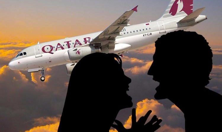 Iranian Woman Beating Adulterous Husband Forces Emergency Landing ...