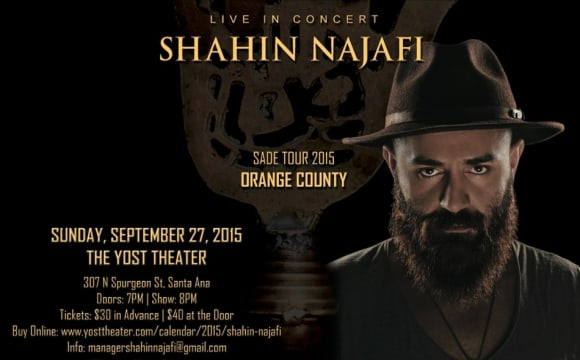 CANCELED: Shahin Najafi Live in Orange County