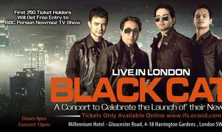کنسرت نوروزی گروه بلک کت در لندن +  احتمال دعوت رایگان به ضبط برنامه نوروز تلویزیون بی بی سی