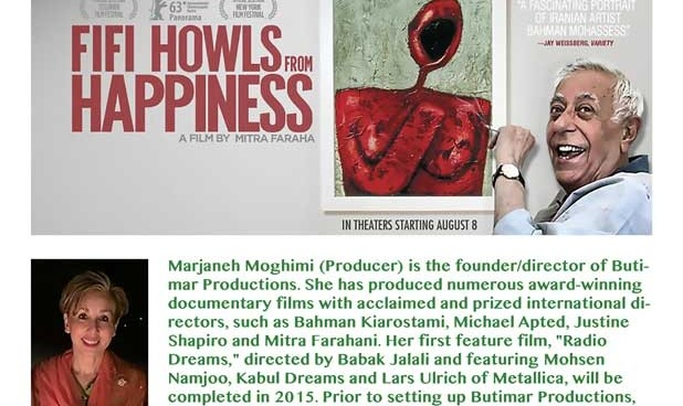 "Screening of Fifi Howls from Happiness"" about Bahman Mohasses"