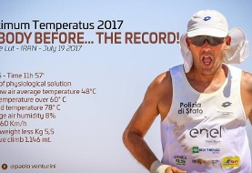 Italian runner breaks a record in world's hottest spot in Iran