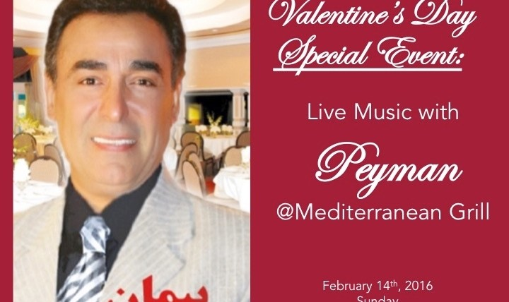 Valentine's Day Special Event with Peyman, Dinner Served