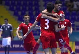تیم ملی فوتسال ایران ۱۰ - تایلند ۳ / صعود ایران به نیمه نهایی بازی های داخل سالن آسیا