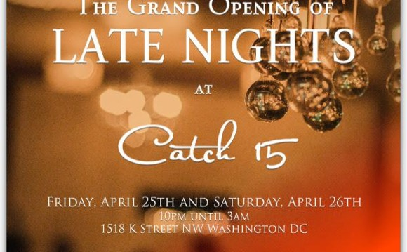 Catch 15 Grand Opening: Late night Dining and International Music