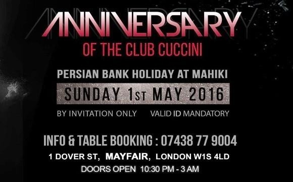 1st Anniversary of Club Cuccini, Persian BankHoliday Party at Mahiki