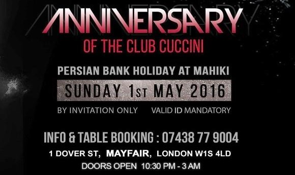 1st Anniversary of Club Cuccini, Persian BankHoliday Party at Mahiki