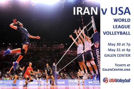 USA vs. IRAN in FIVB Volleyball Men's World League 2015