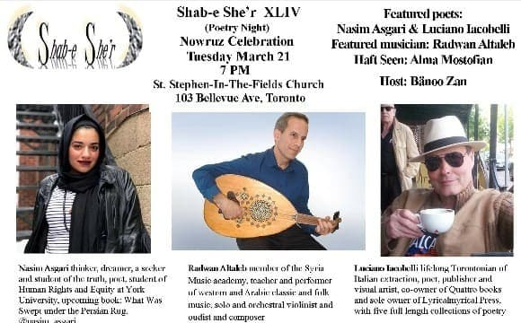 Shab-e She'r (Poetry Night) Nowruz Celebration