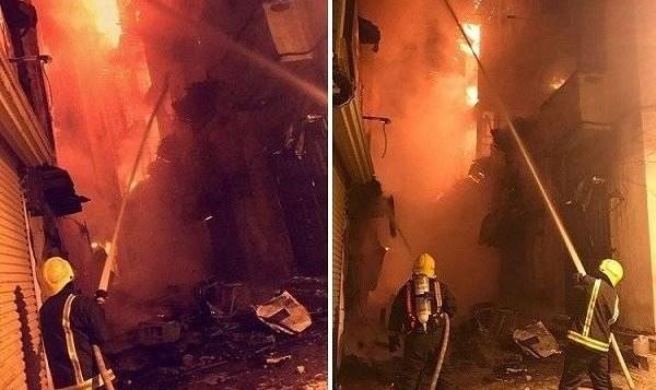 آتش سوزی در منطقه تاریخی جده عربستان
