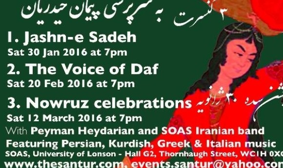 Jashn-e sadeh concert: Persian, Kurdish and Greek music with Peyman Heydarian