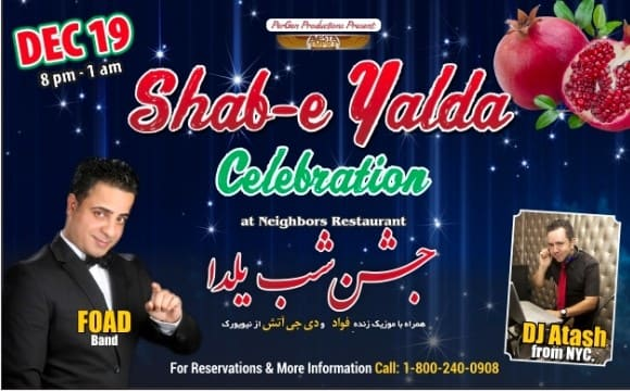 Shabe E Yalda Live music of Foad and DJ ATASH.