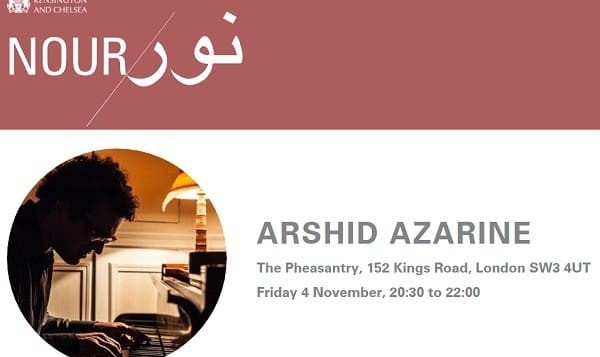 Arshid Azarine at Nour Festival of Arts: Persian Sketches for Piano