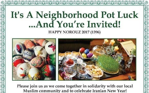 Norouz Pot Luck with the Community at IMAN