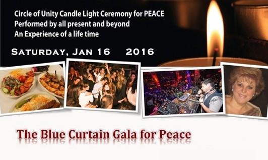 شب نشینی سالانه پرده آبی صلح: موسیقی ایرانی، شام، رقص، شعر و طنز، خنده و پایکوبی