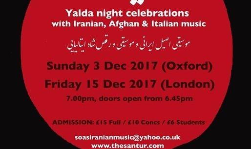 Yalda Night Concert 2017 - Oxford