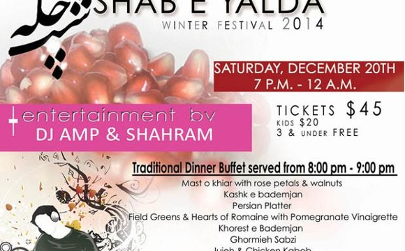 Shabe E Yalda Celebration and Persian Buffet