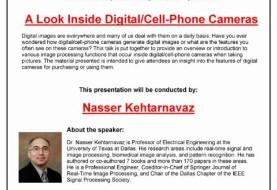 A Look Inside Digital/Cell - Phone Cameras By Dr. Nasser Kehtarnavaz