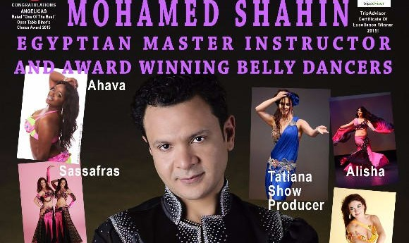 Belly dance show with Egyptian superstar Mohamed Shahin