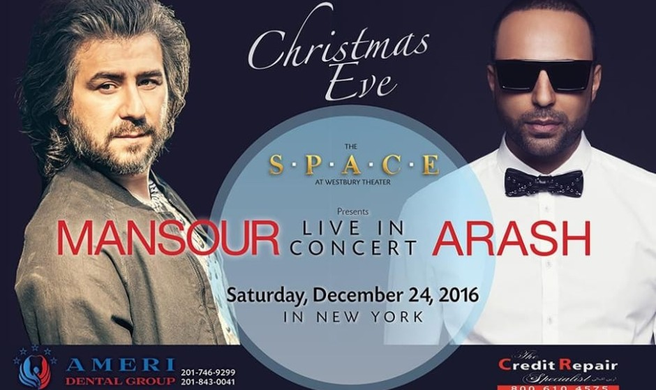 Arash and Mansour: Live in Concert on Christmas Eve in New York