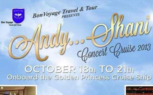 Andy & Shani Concert CRUISE Vacation - 3 days