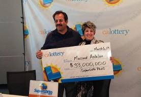زوج ایرانی برنده جایزه ۳۳ میلیون دلاری لاتاری ایالت کالیفرنیا