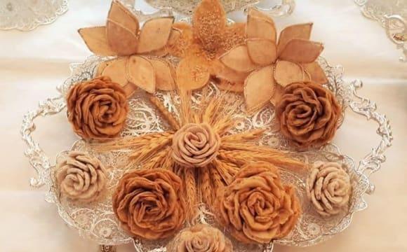نمایشگاه جشن عروسی به سبک ایرانی: سفره عقد نقره بافت و سنتی ایرانی