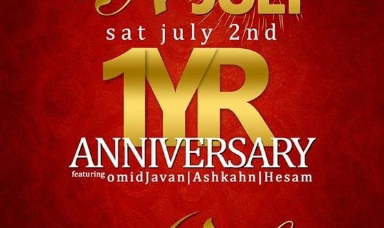 Persian Night: 1 Year Anniversary and Annual International 4th of July!