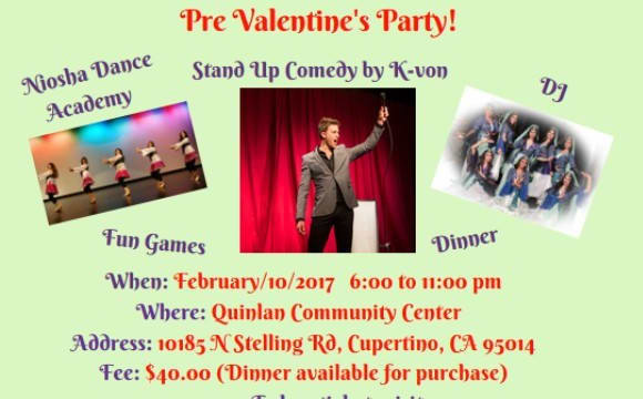 Pre-Valentine's Party: Comedy with K-von, Dance Performance, Music by DJ