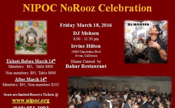 NIPOC Norooz Party and Persian Food