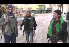Kurdish women fight inside Kobani (video)