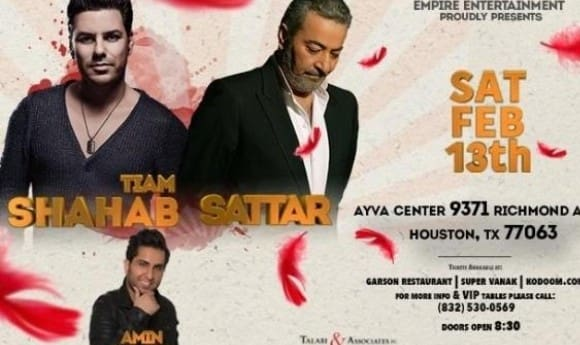 Shahab Tiam, Sattar and Amin Marashi at Valentine's Day Concert and Party