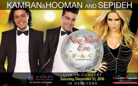 Kamran & Hooman and Sepideh on New Year's Eve in New York