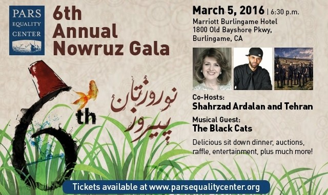 6th Annual Nowruz Gala: Dinner, Entertainment and Music by Black Cats