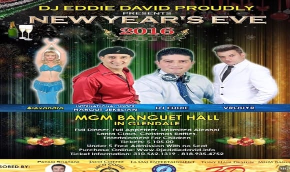 New year's Eve Celebration 2016: Dinner, Music, Dance