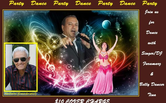 A night of dancing with DJ Faramarz and Belly dancer Tina