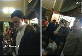 حضور فرزند آیتالله خامنهای و سردار سلیمانی در مراسم بزرگداشت سردار حججی + عکس