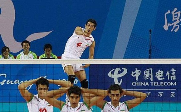 Iranian National Volleyball Team Vs. The US Team