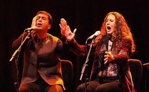 کنسرت محمد معتمدی و رزاریو لترمندیتا، خواننده موسیقی فلامنکو اهل اسپانیا